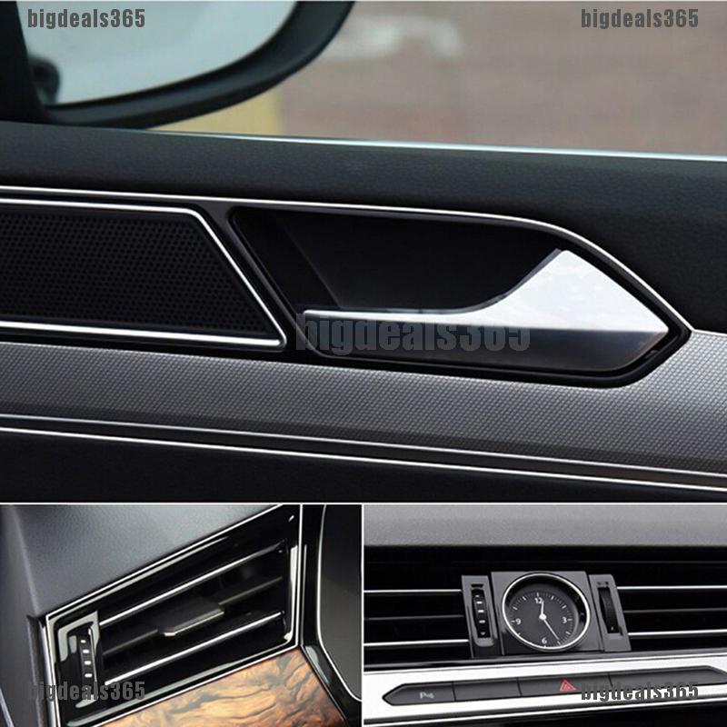 5M Line Car Van Interior Decor Red Point Edge Gap Door Panel Accessories Molding