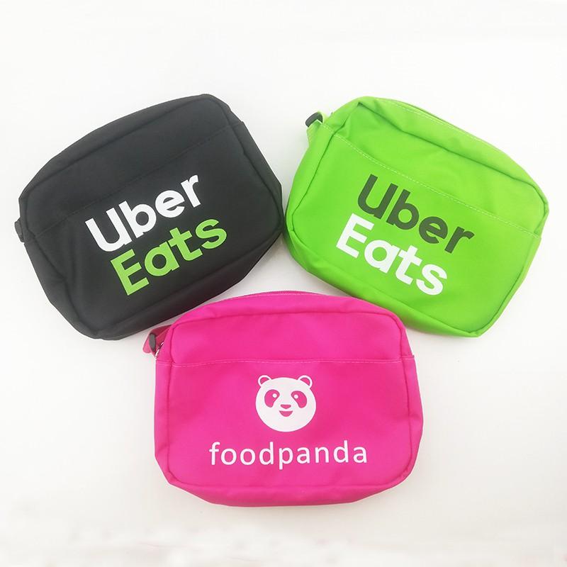 Uber eats กระเป๋าใหม่ กระเป๋าสร้างสรรค์ หมี ขายกระเป๋าเล็ก ๆ  foodpanda ไหล่เดียว กระเป๋าเอียง สามสี