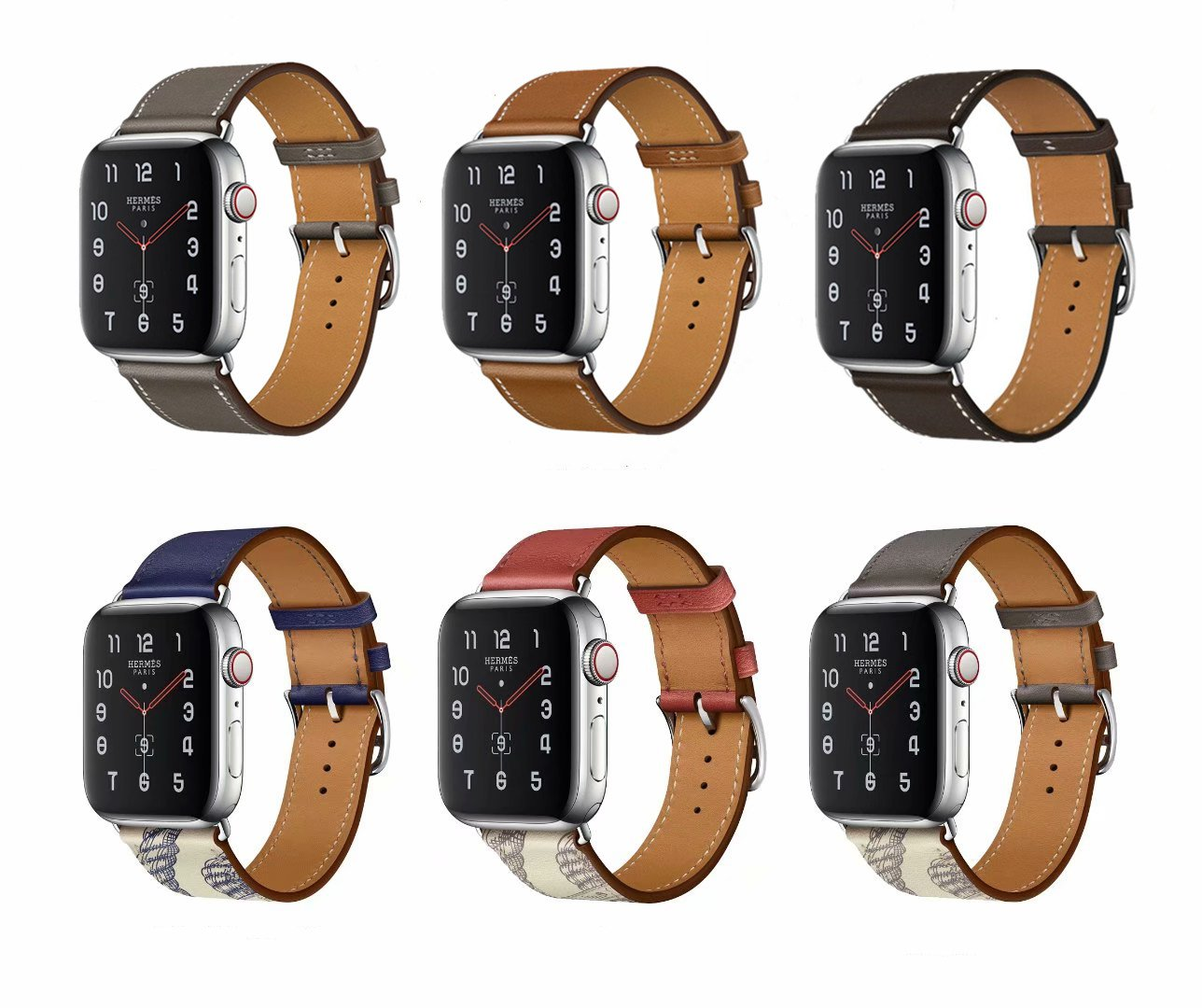 40mm 44mm Bracelet Strap for Apple Watch Band SE 6 5 4 42mm 38mm Genuine Leather Loop for iWatch Series 3 2 1 Single Tou