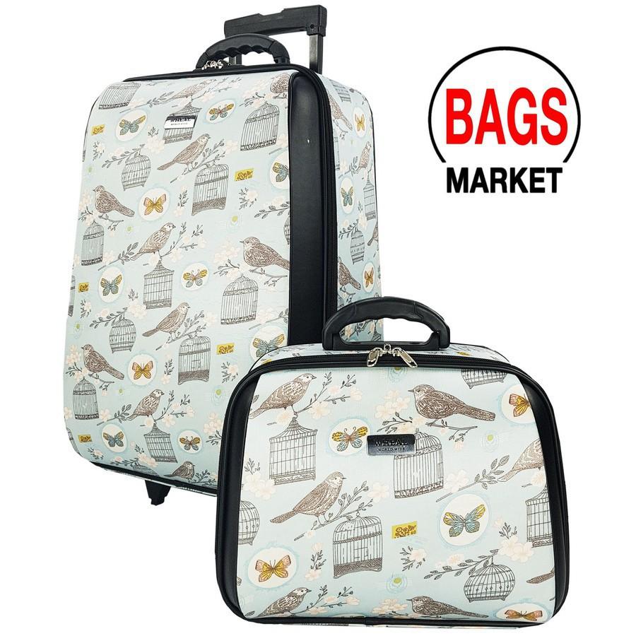 กระเป๋าเดินทาง กระเป๋าเดินทางล้อลาก WHEAL เซ็ทคู่ 22/14 นิ้ว ระบบรหัสล๊อค รุ่น F775422-04 B กระเป๋าล้อลาก กระเป๋าเดินทาง