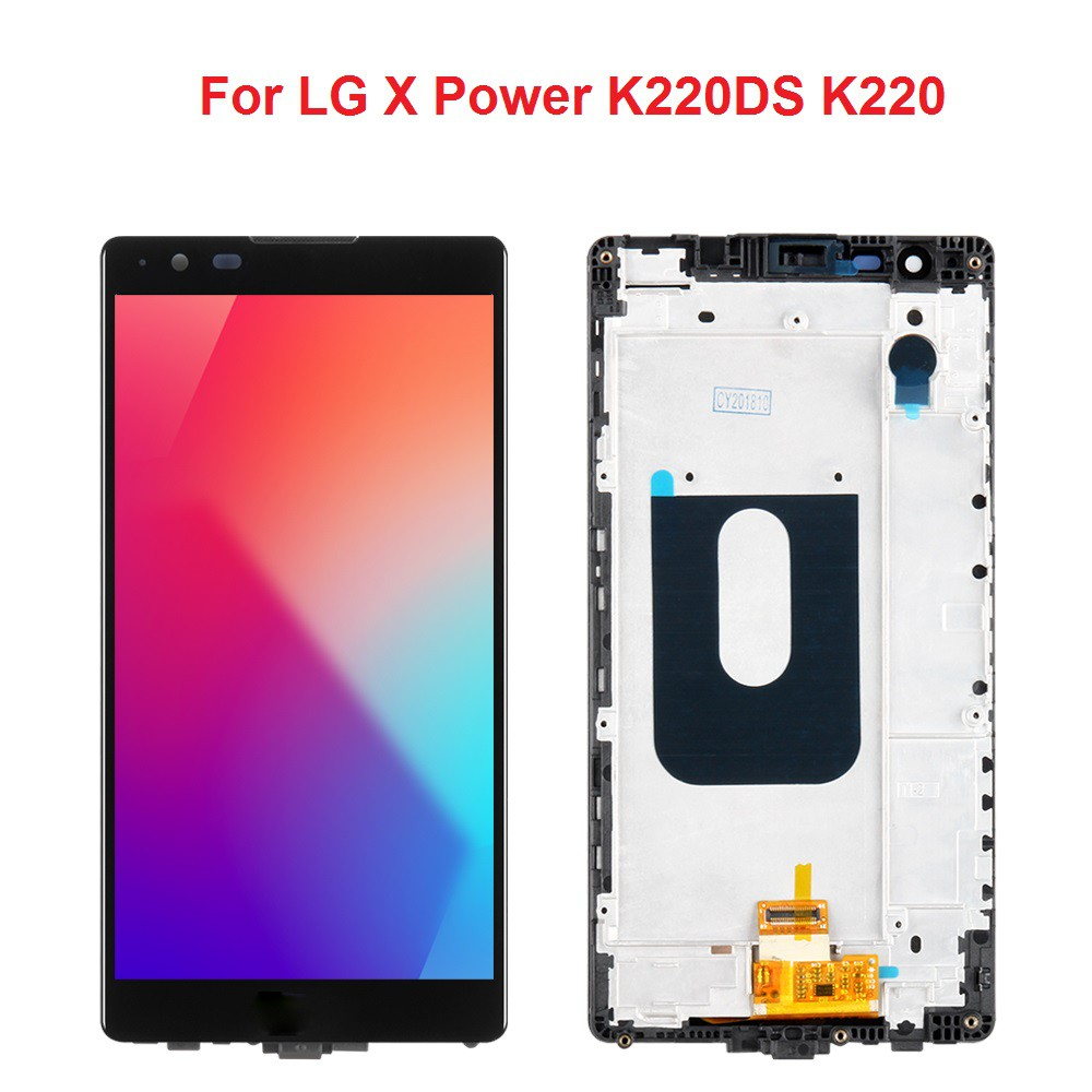 หน้าจอ LCD สำหรับ LG X Power K 220 DS K 220 LCD Display Touch Screen  Digitizer