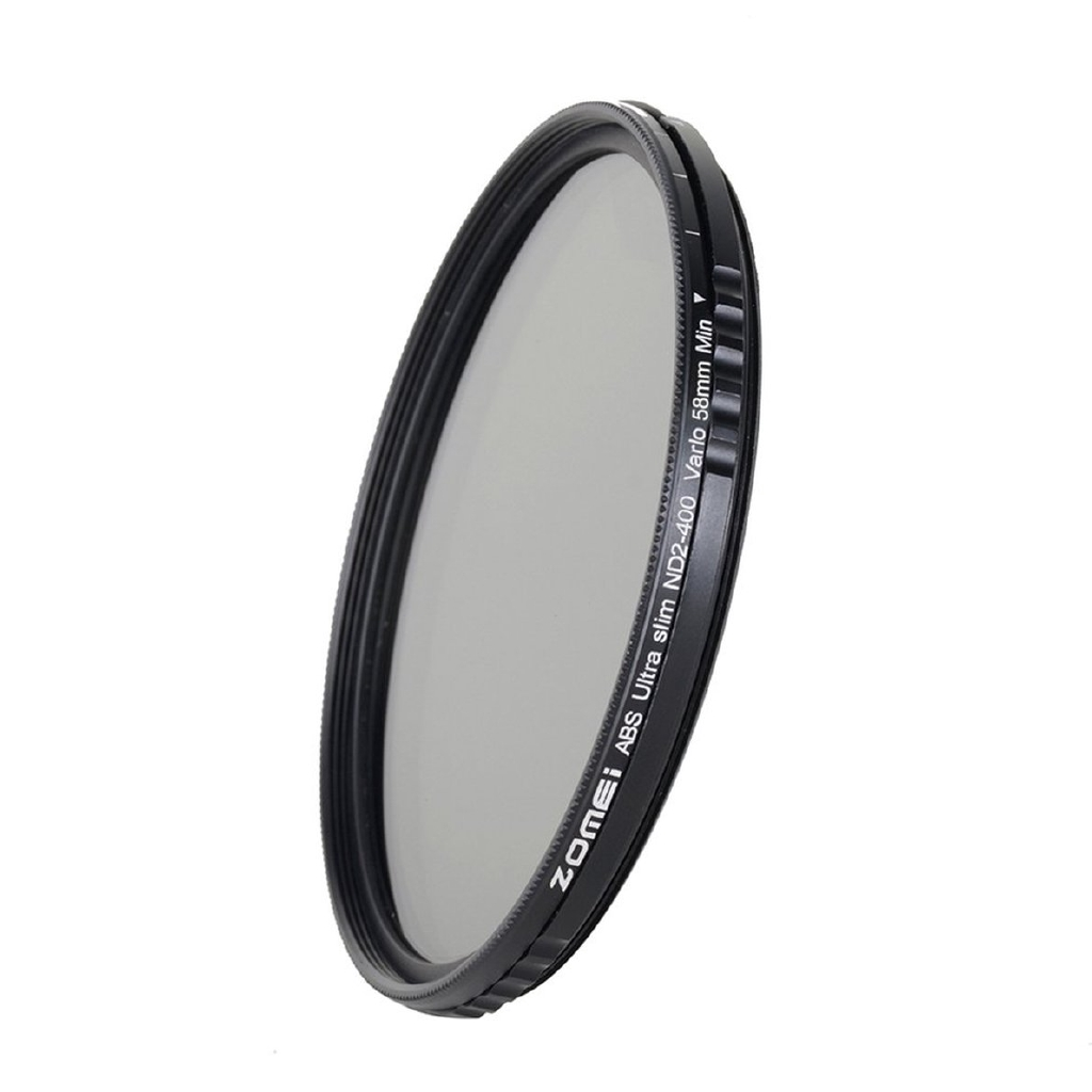 58mm Variable Nd Filter Neutral Density Adjustable For Canon Nikon Slim Fader 2 400 Nd2 To Nd400 49mm 49 Mm Fotga Pentax Lf304 Shopee Thailand