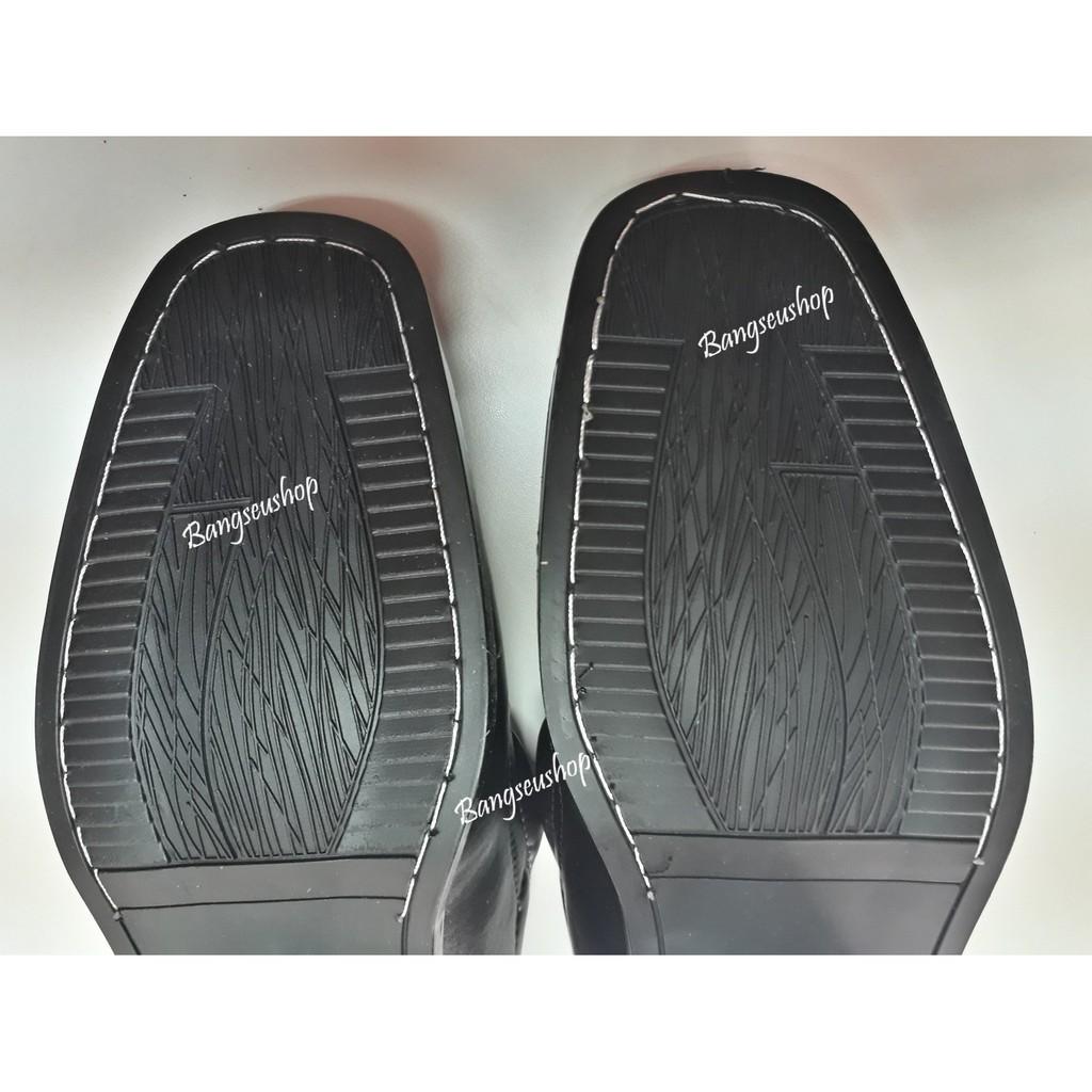 รองเท้าหนัง# รองเท้าหนังผู้ชาย รองเท้าคัชชู พื้นเย็บ สีดำ2