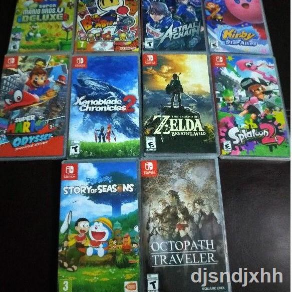 ◐แผ่นเกมส์ NintendoSwitch มือสอง Kirby,Zelda,Mario,Octopath,Splatoon2,Xenoblaed,AstralChain,Doraemon,Bomberman,Arms,Smas