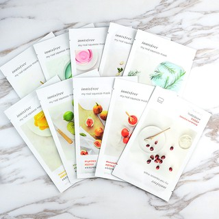 Review แท้100%❤️มาร์หน้า  Nature Mask Innisfree My Real Fruit