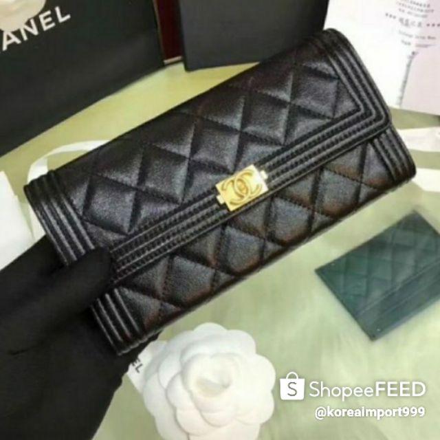 Chanel Boy Wallet Leather