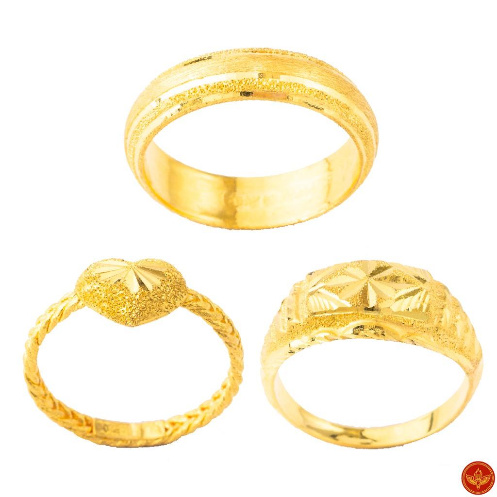 [ทองคำแท้] LSW แหวนทองคำแท้ ครึ่ง สลึง (1.89 กรัม) ราคาพิเศษ มาพร้อมใบรับประกัน (FLASH SALE)