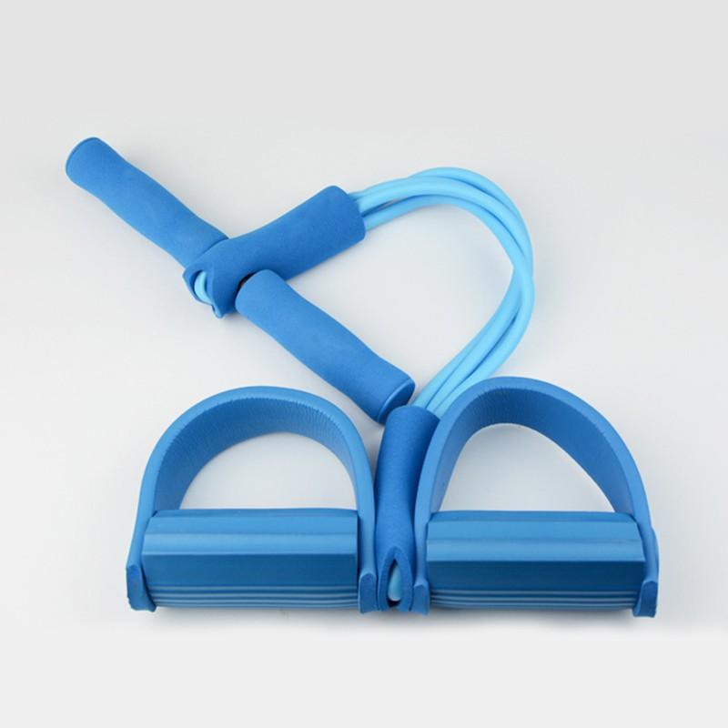 การฝึกความแข็งแรงส่วนบุคคล ✇▣☼4 Resistanc การออกกำลังกายการออกกำลังกายแถบยางยืดผู้ออกกำลังกายเชือกยางยืดอุปกรณ์พายความต
