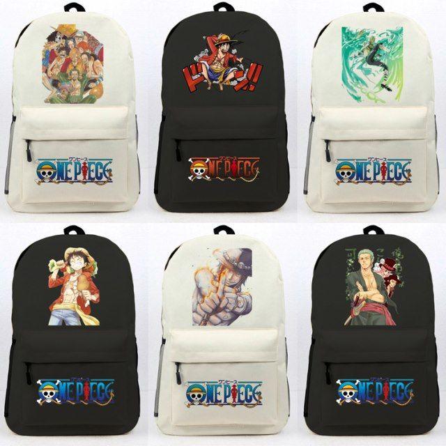 One Piece กระเป๋านักเรียนอะนิเมะกระเป๋าเป้สะพายหลัง Luffy Ace Sauron กระเป๋าเดินทางคอมพิวเตอร์กระเป๋าเป้สะพายหลังสำหรับช