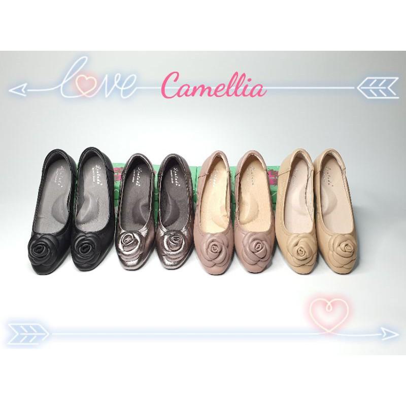 รองเท้าหนังแกะแท้ คัชชูเพื่อสุขภาพ รุ่น Love Camellia