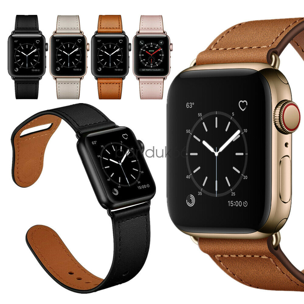 Watch Band for Apple Watch Series 6 5 4 3 2 Genuine Leather Strap 38/42 40/44mm