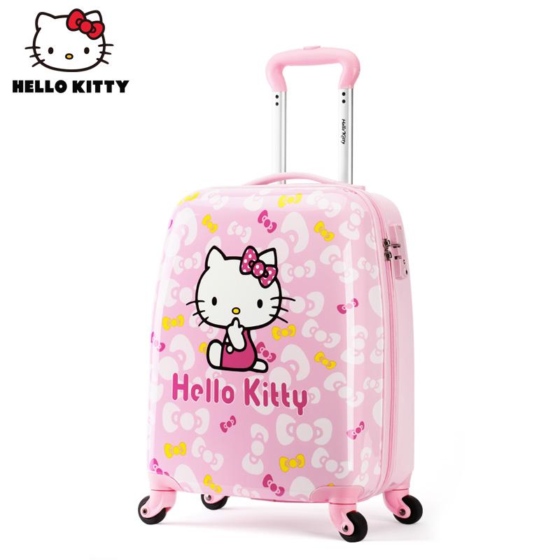 ♡≝ กระเป๋าเดินทางกลางแจ้ง กล่องเก็บเสื้อผ้า กระเป๋าใส่รถเข็นเด็ก HelloKittyกระเป๋าเด็กสาวเจ้าหญิงกรณีรถเข็นนักเรียนน้ำหน