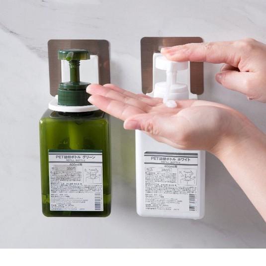 ที่แขวนขวดปั๊ม ขวดเจลล้างมือ ขวดแชมพู ที่แขวนขวดครีมอาบน้ำ ที่แขวนขวดน้ำยาล้างจาน แบบขวดหัวปั๊ม
