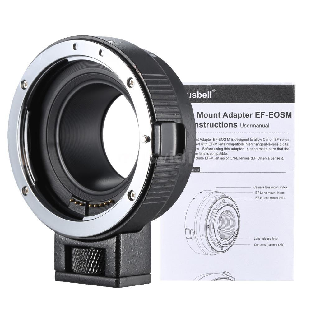 Andoer EF-EOSM Lens Mount Adapter Support Auto-Exposure Auto-Focus and  Auto-Aperture for Canon EF/EF-S Series Lens to EO