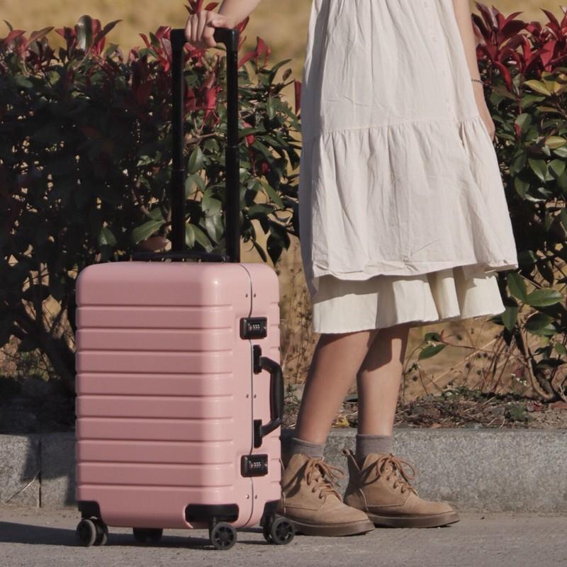 ของแท้【มีดบาร์เรลTDD】กระเป๋าเดินทางผู้หญิงใบเล็ก20กล่องเดินทางน้ำหนักเบาสุทธิสีแดงinsน้ำ24-รถเข็นนิ้ว