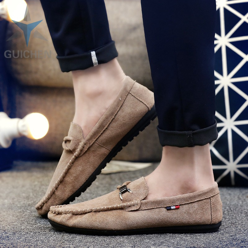 ♟✵⚡GC รองเท้าคัชชู รองเท้าโลฟเฟอร์หนัง สีดำ สำหรับผู้ชาย รองเท้าหนังแฟชั่น loafer 04