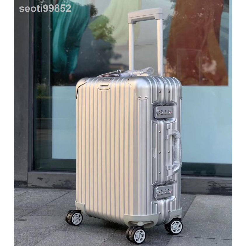 กระโปรงหลังรถ™✵>R Jiarimowa กระเป๋าเดินทางล้อลาก 20/24 นิ้วกระเป๋าเดินทางโลหะผสมอลูมิเนียมแมกนีเซียม