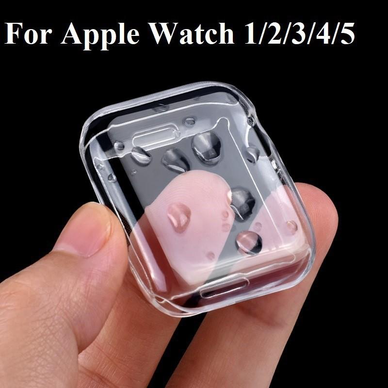 เคส สำหรับ AppleWatch ขนาด 38 มม. 40 42 44 ซิลิโคนอ่อนนุ่มหุ้มใสสำหรับ iWatchSeries 6/5/4/3/2/1 Apple Watch