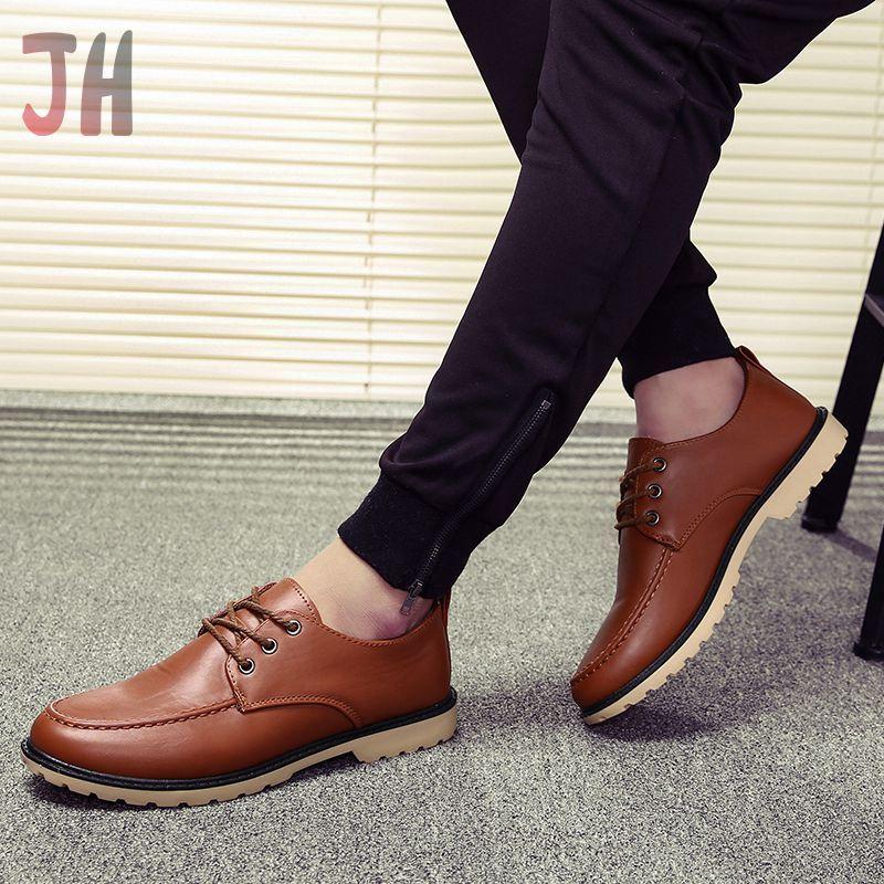 JH✨ รองเท้า รองเท้าหนังแท้ loafer รองเท้าหนังแบบผูกเชือก รองเท้าหนังแฟชั่น รองเท้าคัชชู รองเท้าโลฟเฟอร์ ผู้ชาย 01