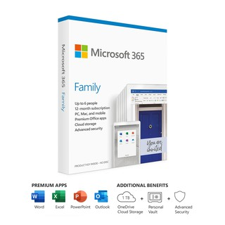 *Product key แท้*  Microsoft Office 365 Family 12 Month Subscription ใช้ได้ 6 คน