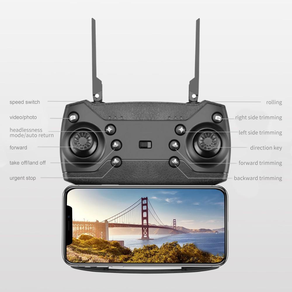 โดรน 4K HD Drone WIFI กล้อง โดรน โดรนราคาถูก รุ่นขายดี Drone ถ่ายวีดีโอ กล้องชัด โดรนไร้สาย โดรนบังคับ