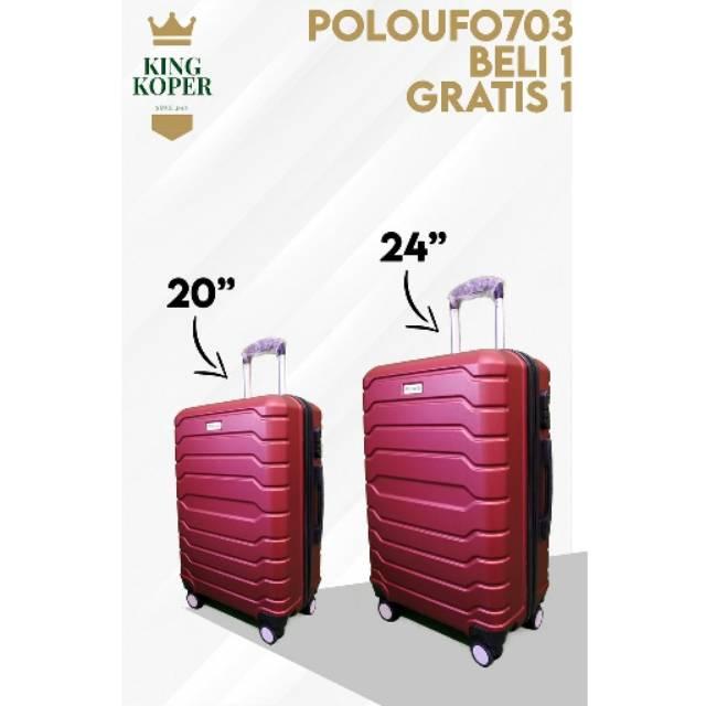 กระเป๋าเดินทางพรีเมี่ยม 20 + 24 Polo Ufo 704 / กระเป๋าเดินทาง