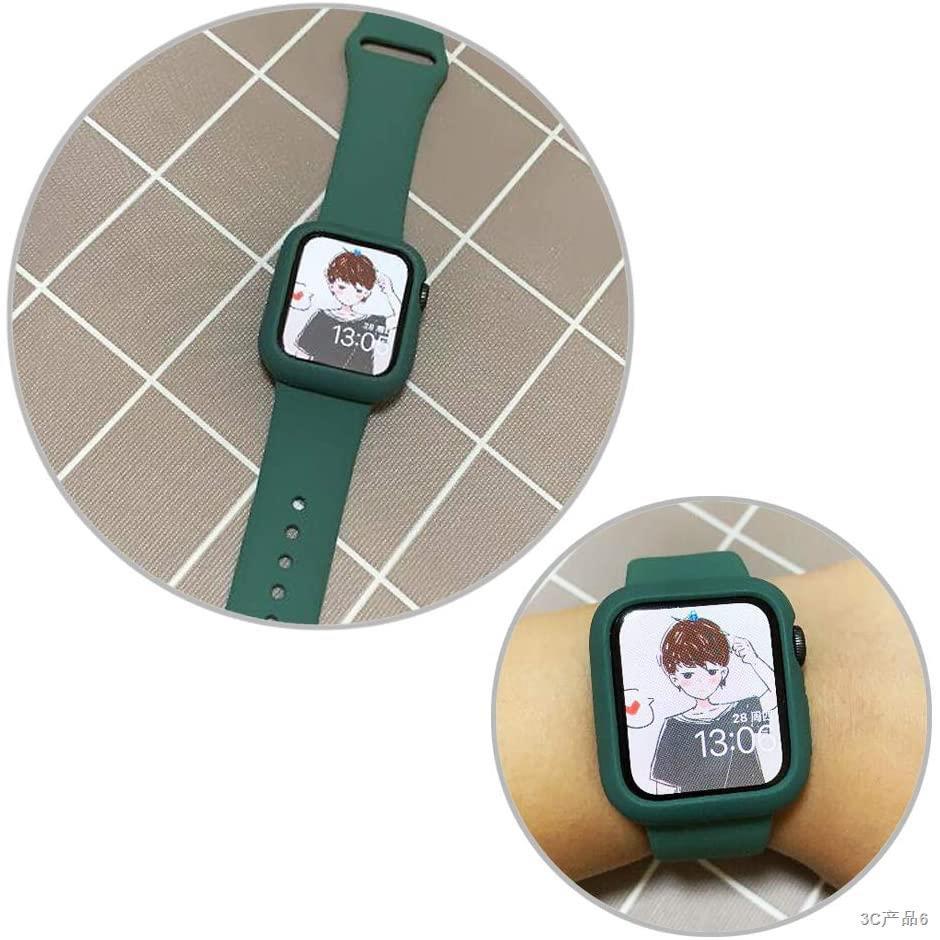❆เคสซิลิโคน สีพาสเทล สำหรับ Apple Watch 38 มม 40 42 44 series 6 se 5 4 3 2 1 สายเคส applewatch