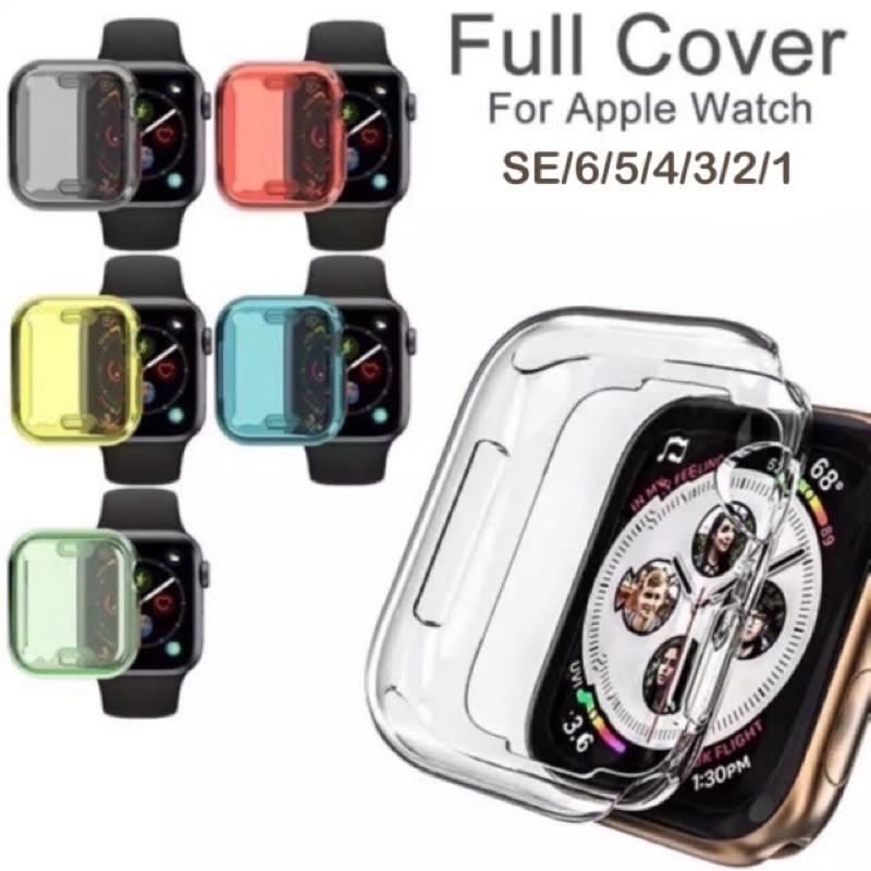สาย applewatch applewatch series 6 พร้อมส่งจากไทย เคสใสคลุมทั้งหน้าจอ และ ฟิล์มกันรอย Apple Watch Series SE/6/5/4/3/2/1