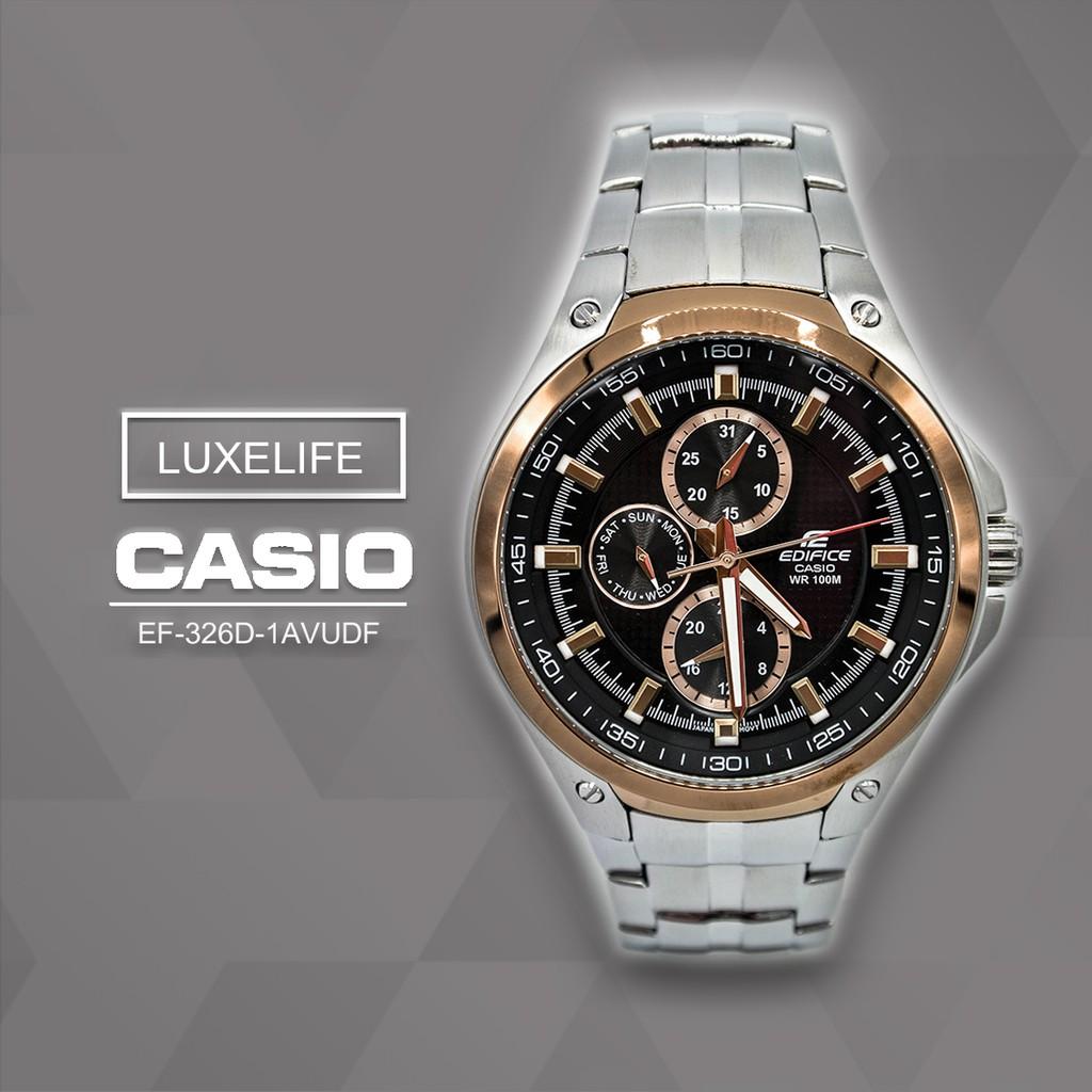 นาฬิกาข้อมือ Casio รุ่น EF-326D-1AVDF Edifice- นาฬิกาข้อมือผู้ชาย สายสแตนเลส- Silver