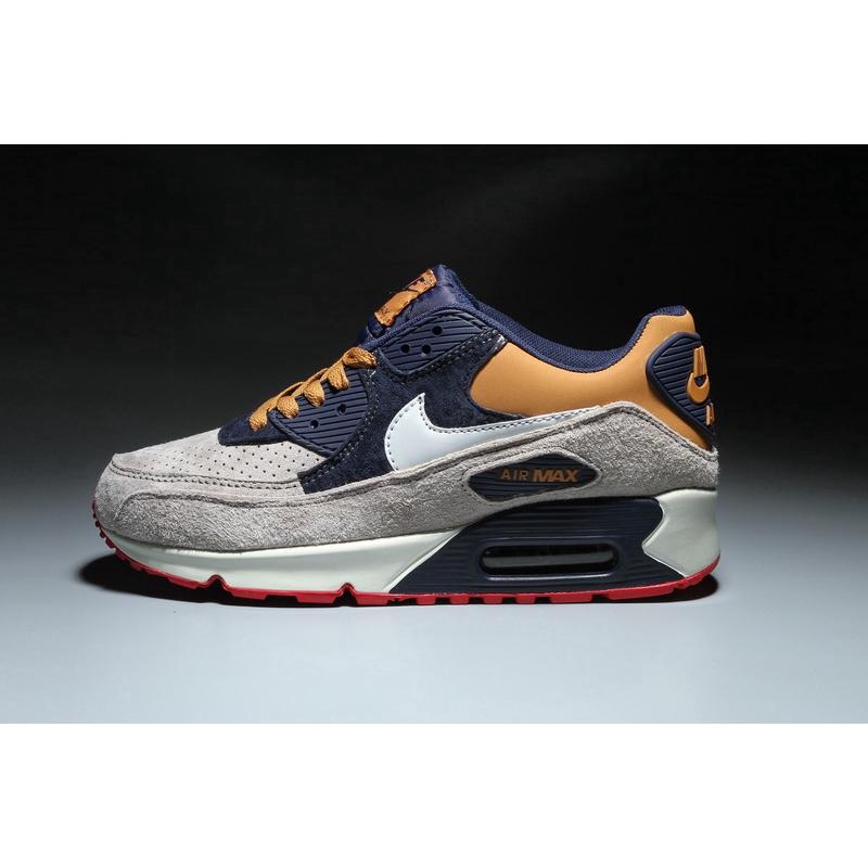 2020 Nike Air Max 90 รองเท้าใหม่สีเทาสีน้ำเงินเข้มขนาด: 36-46