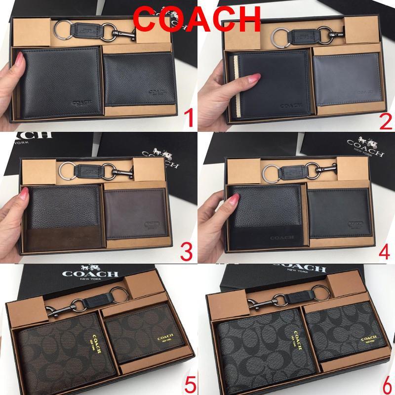 coach กระเป๋าสตางค์  coach แท้ กระเป๋าสตางค์ กระเป๋าสตางค์ผู้ชาย กระเป๋าสตางค์ใบสั้น  F74974 74688 36679 74586