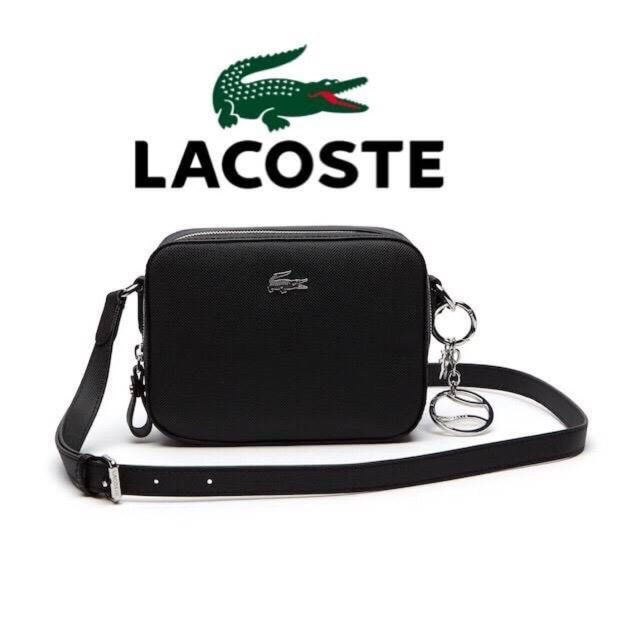 1fe2b7406 💕 Lacoste WOMEN S DAILY CLASSIC COATED PIQUÉ CANVAS SQUARE CROSSOVER BAG