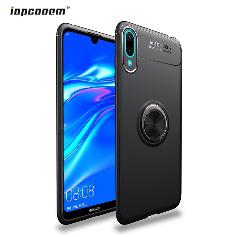 Review Huawei Y7 Pro 2019 Case Magnetic Ring Bracket Silicone Soft Holder Back Cover