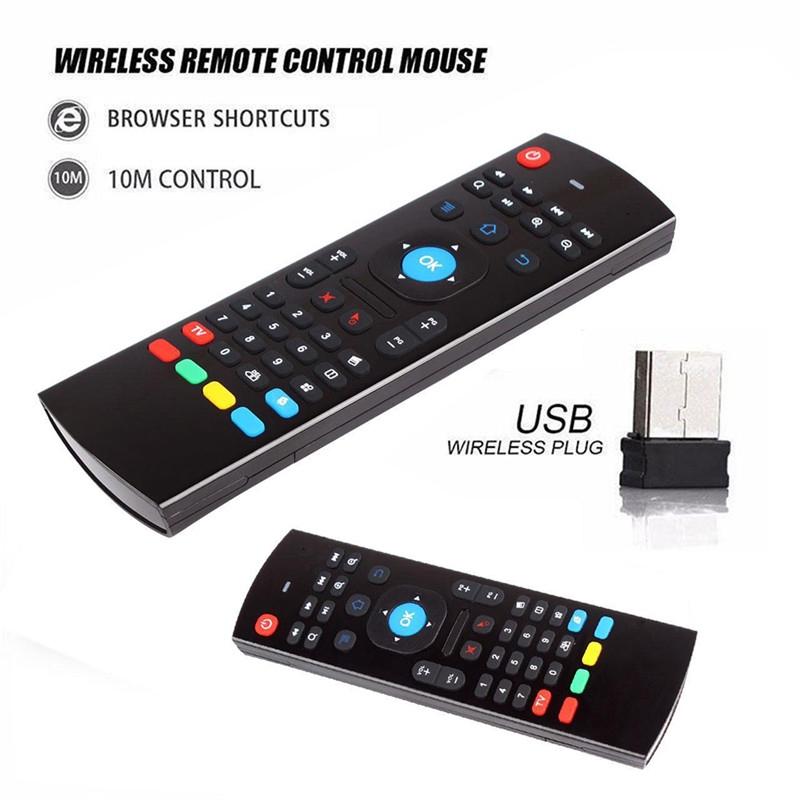 mx 3 2 . 4 g แอร์เมาส์ไร้สายพร้อมรีโมทคอนโทรลสําหรับ android tv box smart tv pc laptop ps 3 xbox projector