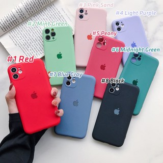 Review 【ปกเต็ม】iPhone11 pro max se2020 case เคสนิ่ม เนื้อซิลิโคน for iPhone X XS MAX XR iPhone 6/6S PLUS 7+ 8PLUS full cover case