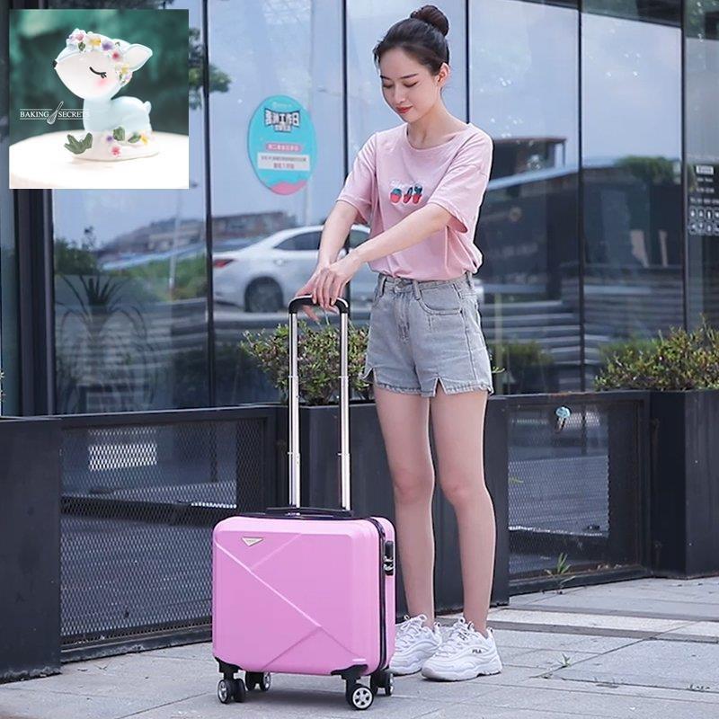 กระเป๋าเดินทางขนาดเล็กน่ารักหญิง 18 นิ้วรุ่นเกาหลีกล่องรหัสผ่านสดขนาดเล็กชายขึ้นเครื่องมินิ 16 กระเป๋าเดินทางธุรกิจคอมพ
