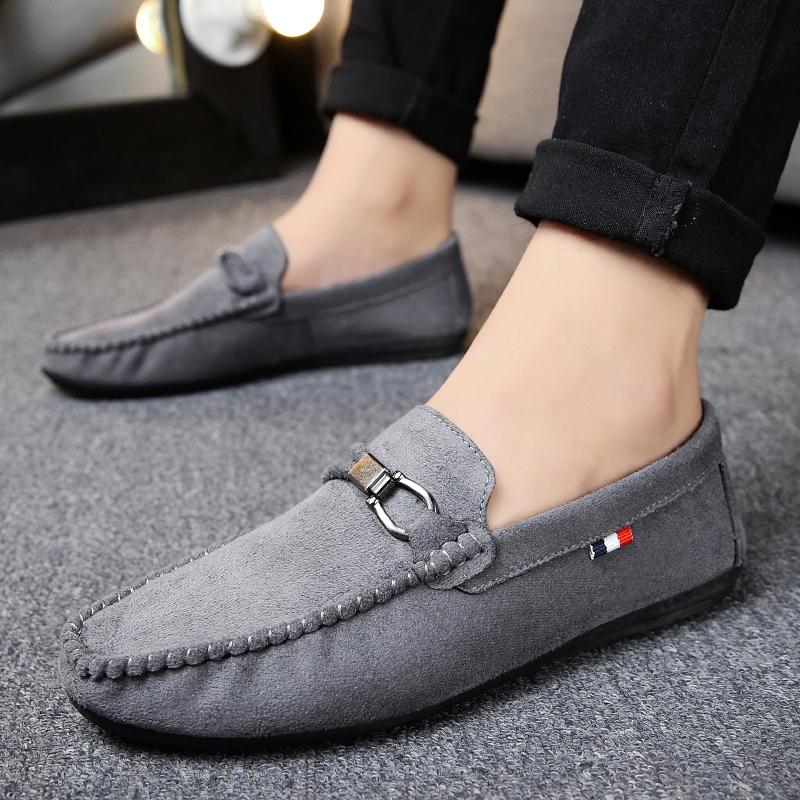 📌📌📌 รองเท้าโลฟเฟอร์หนัง สีดำ สำหรับผู้ชาย คัชชูผู้ รองเท้าหนัง เกาหลี รองเท้าผู้ แบบ สวม ไม่มี ส้น ผูกเชือก เสื้อผ้าแฟชั่น 39-44