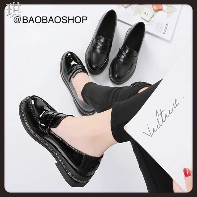 ▲✽9062 รองเท้าคัชชูสีดำ ดำเงา/ดำด้าน