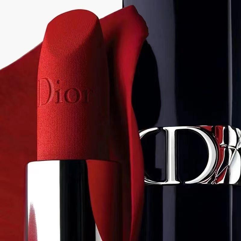 ลิปสติก Dior✆>Dior Dior Lipstick 999 Matte Moisturizing 520 740 Classic Red 888 Gift Box Set แบรนด์ใหญ่ของแท้