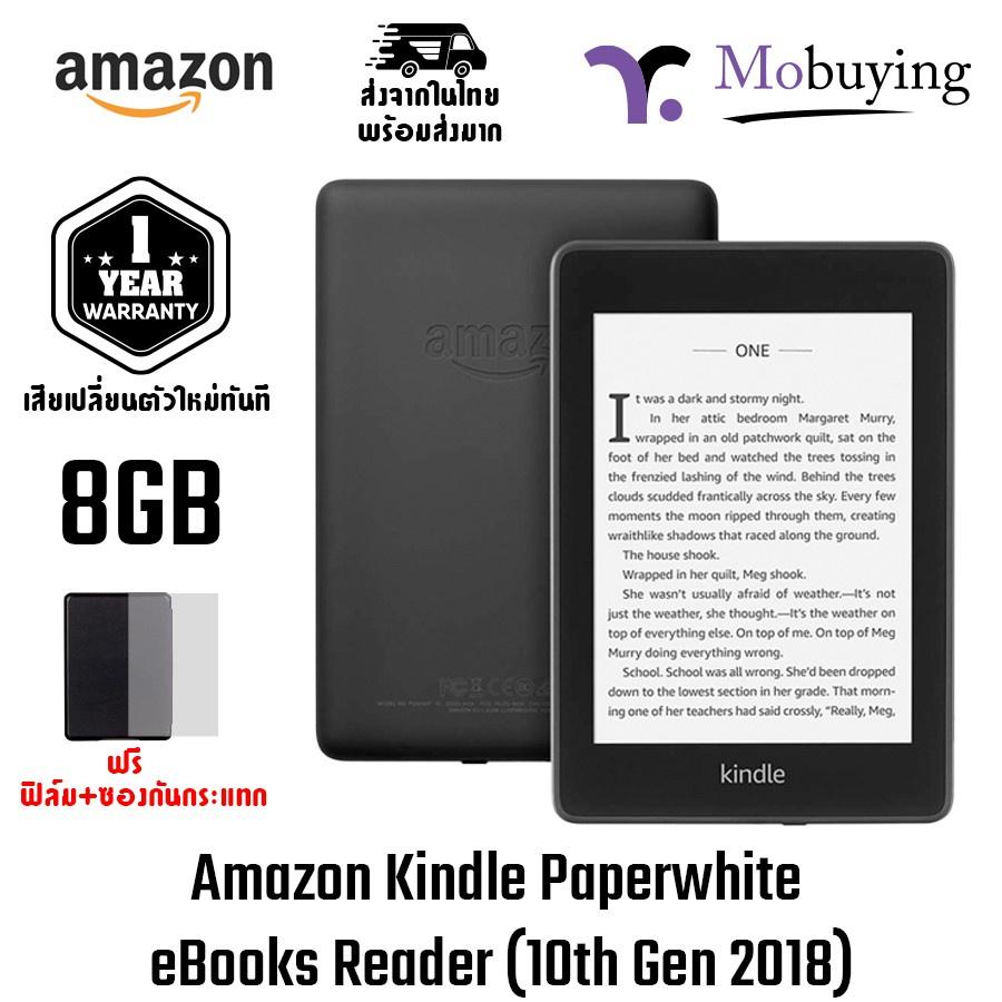 ☀Amazon Kindle Paperwhite eBooks Reader (10th Gen 2018) 8GB or 32GB เครื่องอ่านหนังสือจอขนาด 6 นิ้ว 300PPI กันน้ำ IPX8✧
