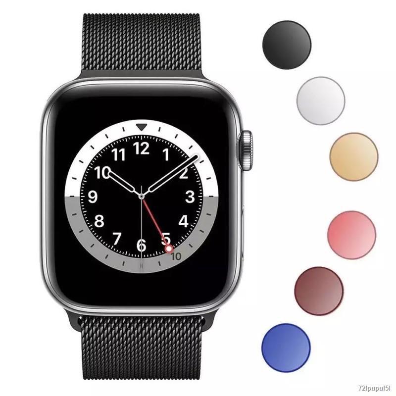 ส่งจากกรุงเทพ❉☽⊙🔥 สายเปลี่ยนนาฬิกาข้อมือ AppleWatch Band Milanese Loop Series 1 2 3 4 5 6 44 มม40 มม 38 42 สาย se 4.7