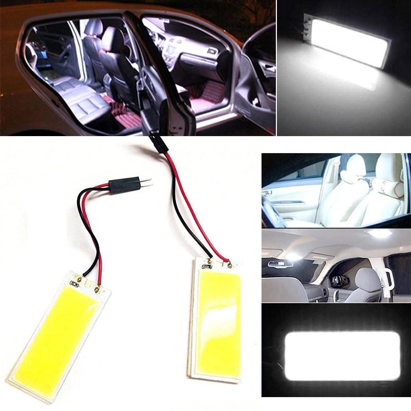 แผงหลอดไฟติดภายในรถยนต์ 12v 6 W 36 Smd Cob Led T 10 Festoon Ba 9s 2 ชิ้น