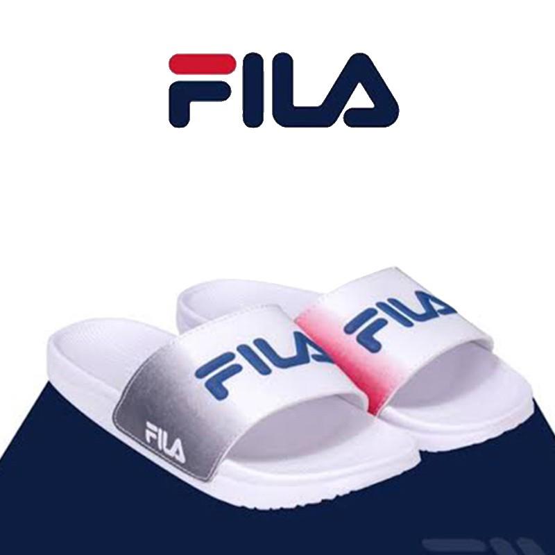 FILA รองเท้าแตะ ฟิลล่า แบบสวมผู้ชาย ของแท้ สีขาว หล่อ ดูดี