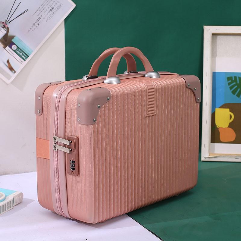 นิ้ว กระเป๋าลาก กระเป๋าเดินทางล้อคู่ แข็งแรง ยืดหยุ่นสูง น้ำหนักกระเป๋ามินิวินเทจขนาดเล็กหญิง14นิ้วน้ำหนักเบากล่องขนาดเล