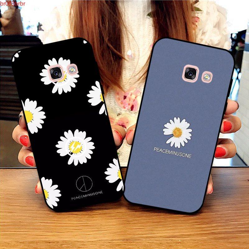 Samsung A3 A5 A6 A7 A8 A9 Pro Star Plus 2015 2016 2017 2018 Daisy Pattern-2 Silicon Case Cover