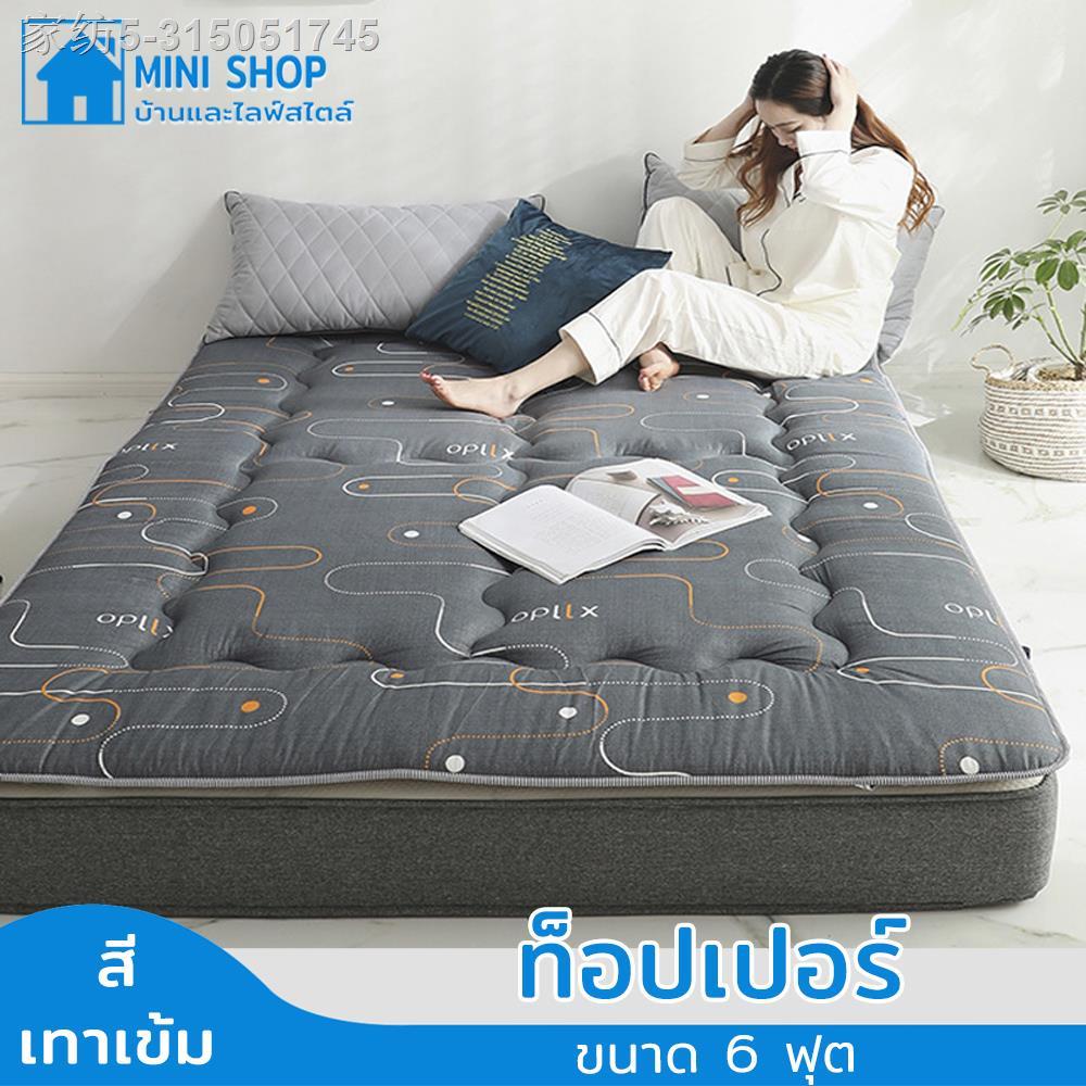 ♨☫✑ที่นอน ที่นอน6ฟุต ที่นอน5ฟุต ท็อปเปอร์6ฟุต ท็อปเปอร์5ฟุต Topper ที่นอนราคาถูกๆ ทนต่อการสึกหรอ นุ่ม ความหนา (ประมาณ 3.