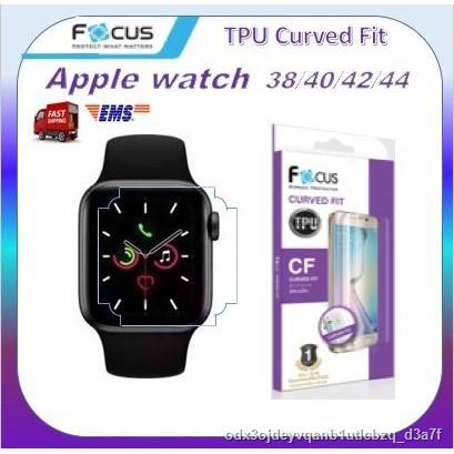 ฟิล์มกันรอย ลงโค้ง เว้นมุม โฟกัส Focus Apple Watch TPU Film curved fit Series 6 / SE 5 4 3 2 1  Nike Plus พร้อมส่ง