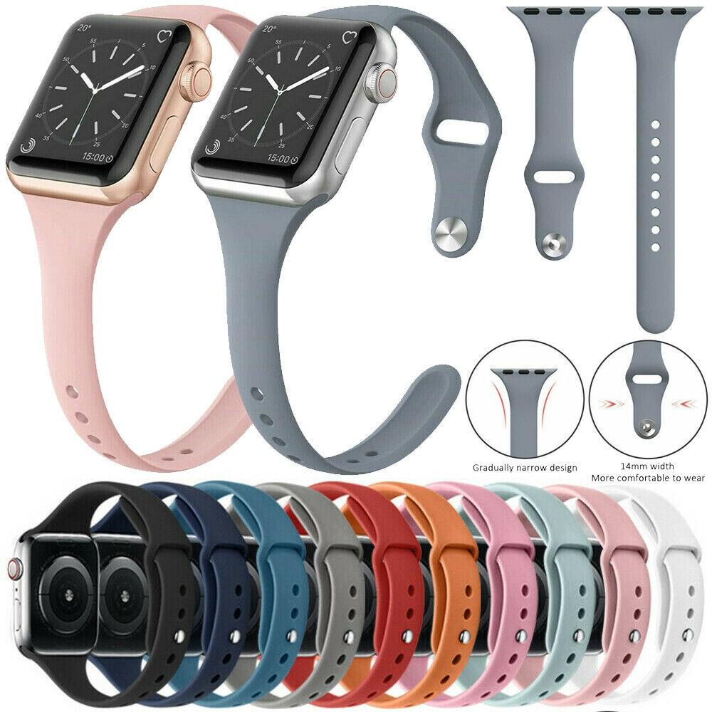 สาย applewatch 38/40mm 42/44mm สายซิลิโคนสำหรับ Apple Watch Band Series 4 3 2 1 ขนาด VOlw