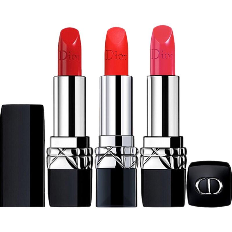 🍒✼✟♞ลิปสติก Dior Lip Glow Rouge Matte Lipstick Couture Colour Comfort and Wear Lipstick, 999 ลิปสติกดิออร์ ลิปdior