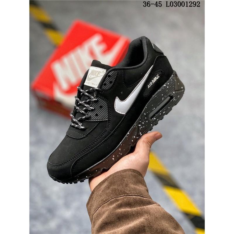 NIKE AIR MAX 90 OG สีดำผู้ชายผู้หญิงรองเท้าผ้าใบรองเท้าลำลองแฟชั่นรองเท้าวิ่ง